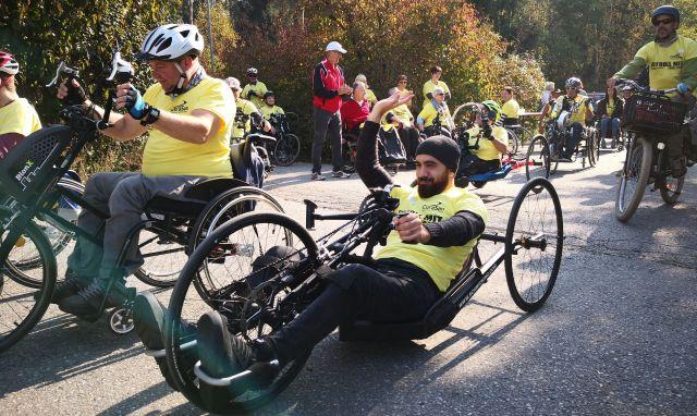 Rollstuhl-Radrennen